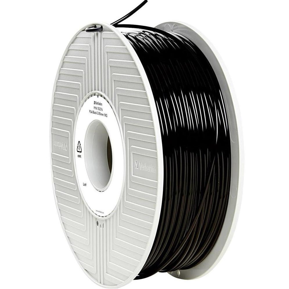 Original Verbatim Black 2.85mm 1kg PLA 3D Filament (55276)