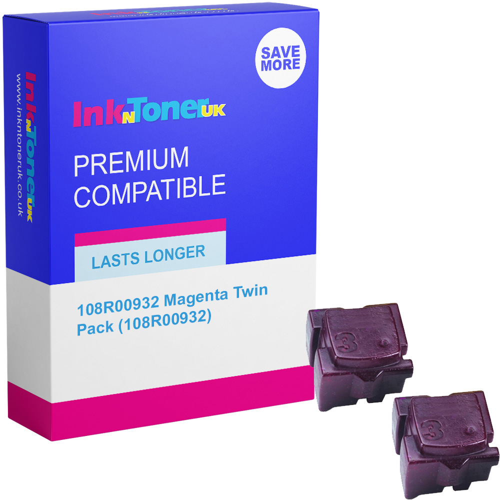 Premium Compatible Xerox 108R00932 Magenta Twin Pack Solid Ink (108R00932)
