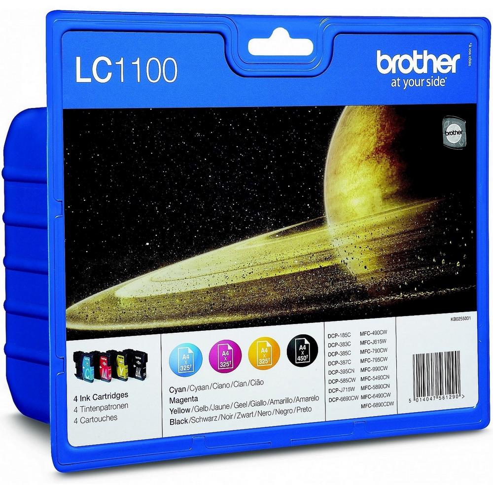 Original Brother LC1100 CMYK Multipack Ink Cartridges (LC1100VALBPRF)