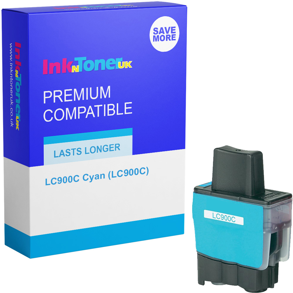 Premium Compatible Brother LC900C Cyan Ink Cartridge (LC900C)