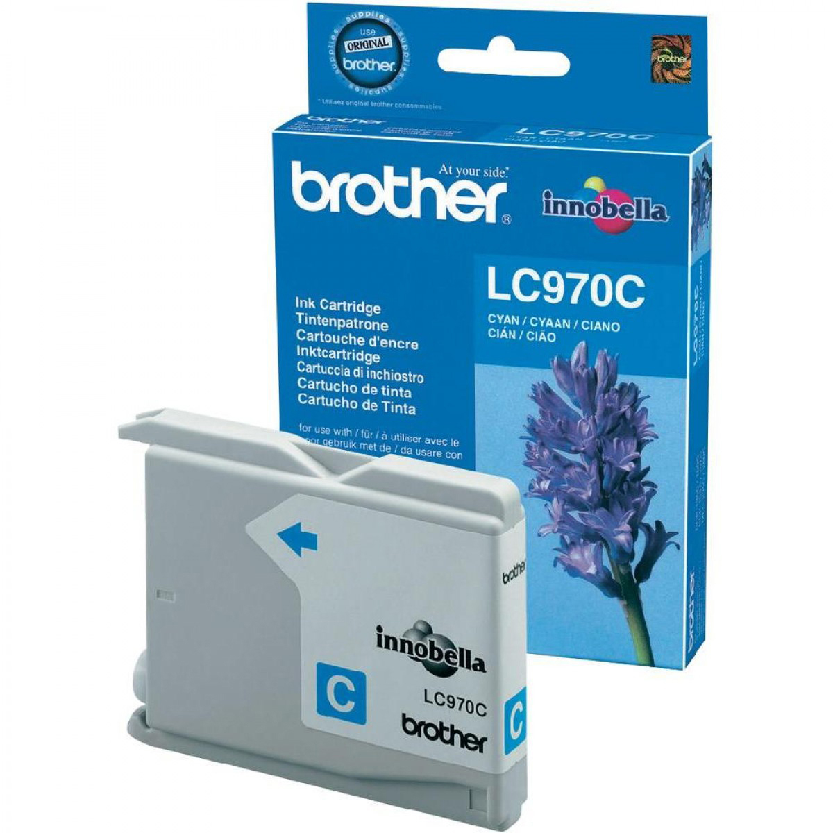 Original Brother LC970C Cyan Ink Cartridge (LC970C)