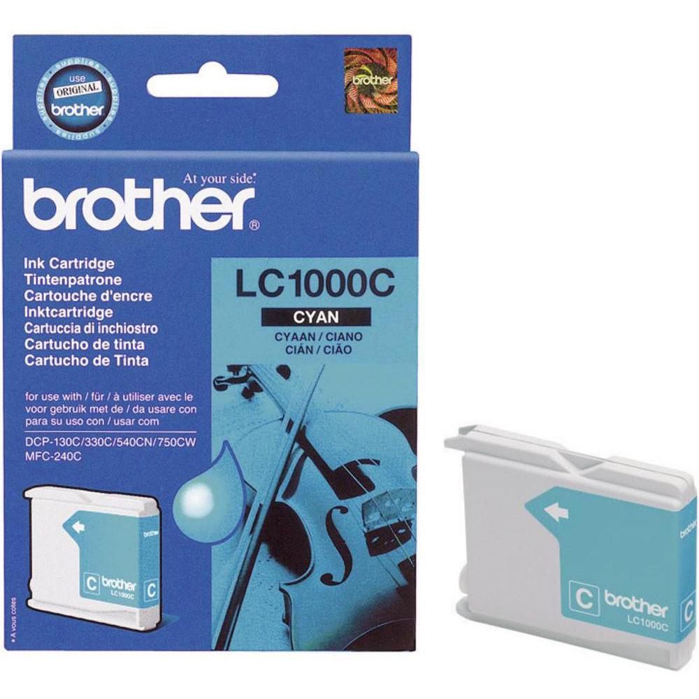 Original Brother LC1000C Cyan Ink Cartridge (LC1000C)