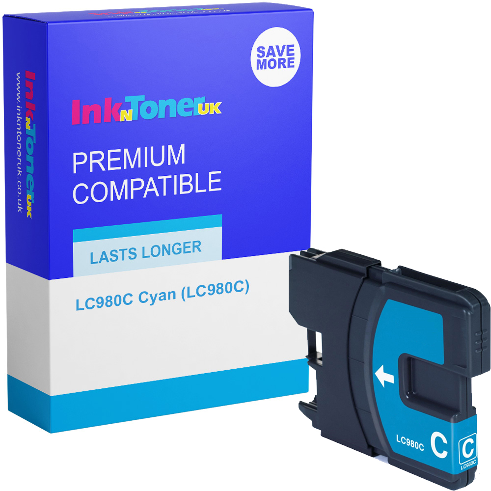 Premium Compatible Brother LC980C Cyan Ink Cartridge (LC980C)