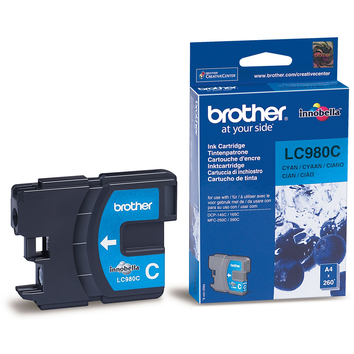 Original Brother LC980C Cyan Ink Cartridge (LC980C)