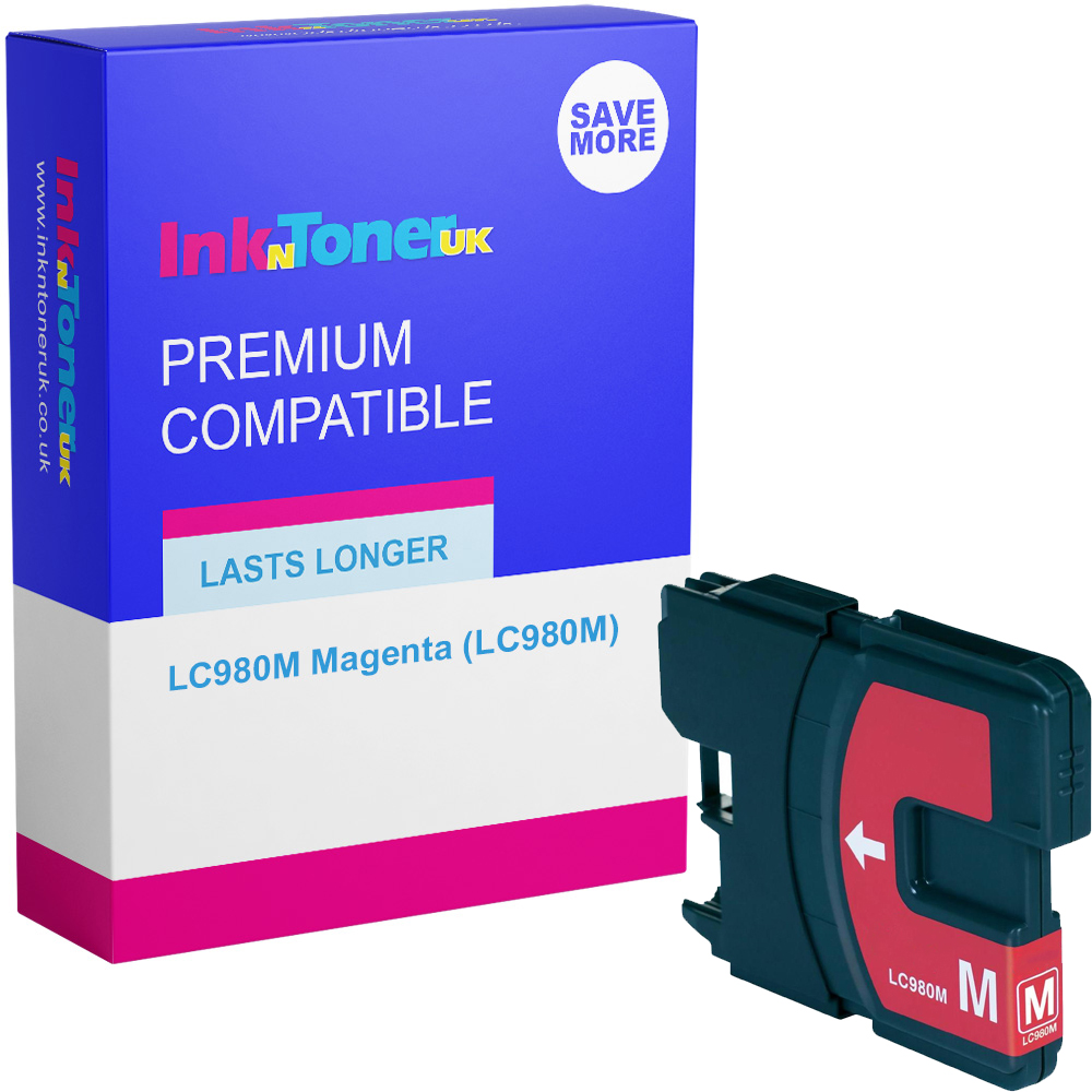 Premium Compatible Brother LC980M Magenta Ink Cartridge (LC980M)