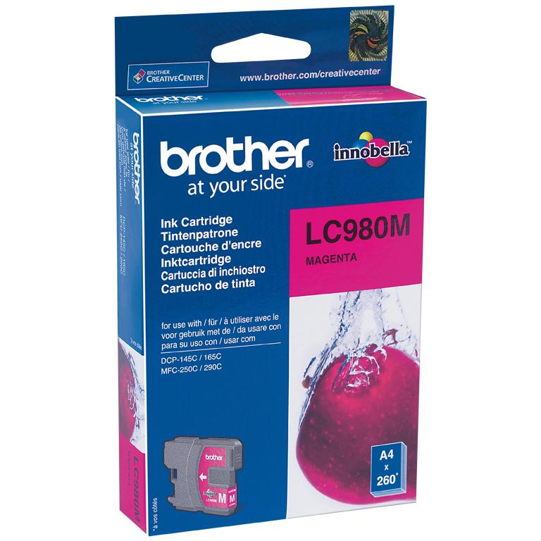 Original Brother LC980M Magenta Ink Cartridge (LC980M)