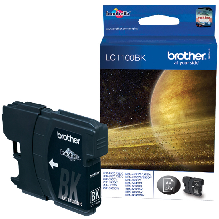Original Brother LC1100 Black Ink Cartridge (LC1100BK)