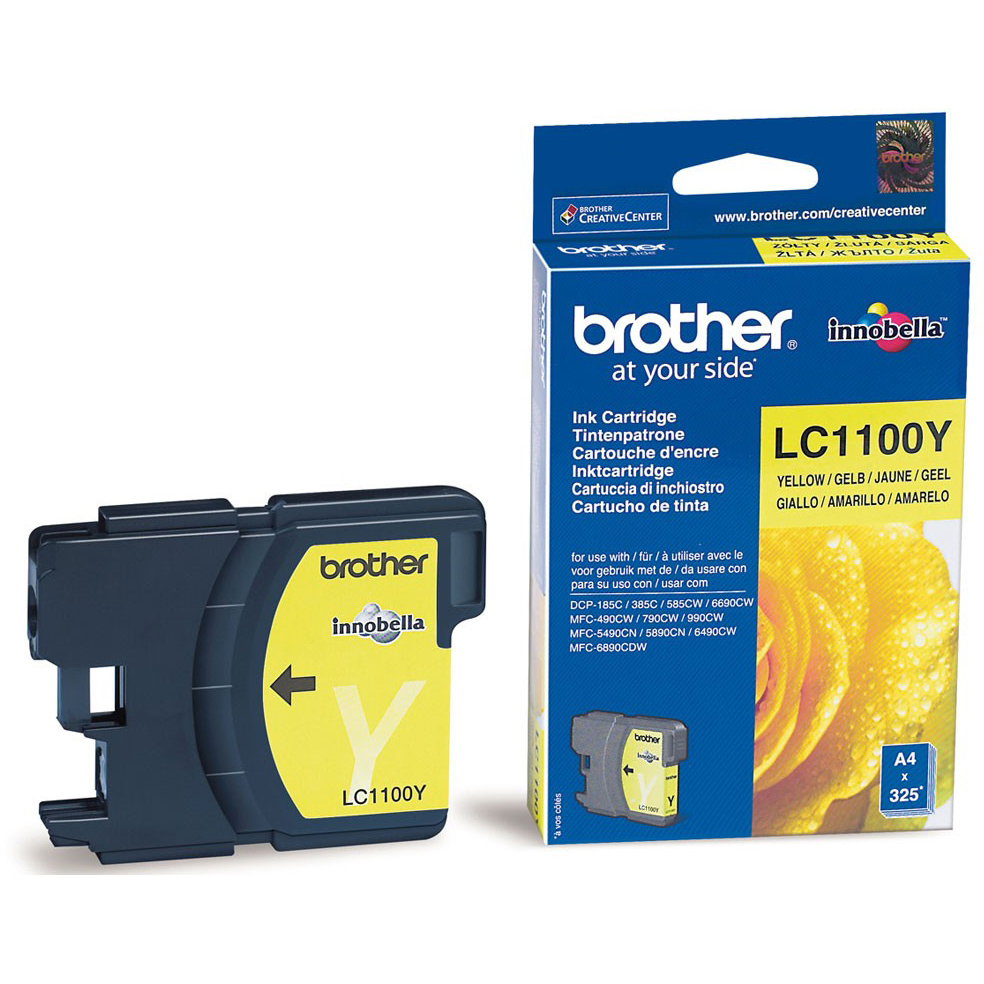 Original Brother LC1100 Yellow Ink Cartridge (LC1100Y)