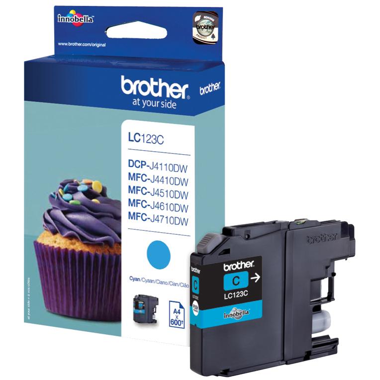 Original Brother LC123 Cyan Ink Cartridge (LC123C)