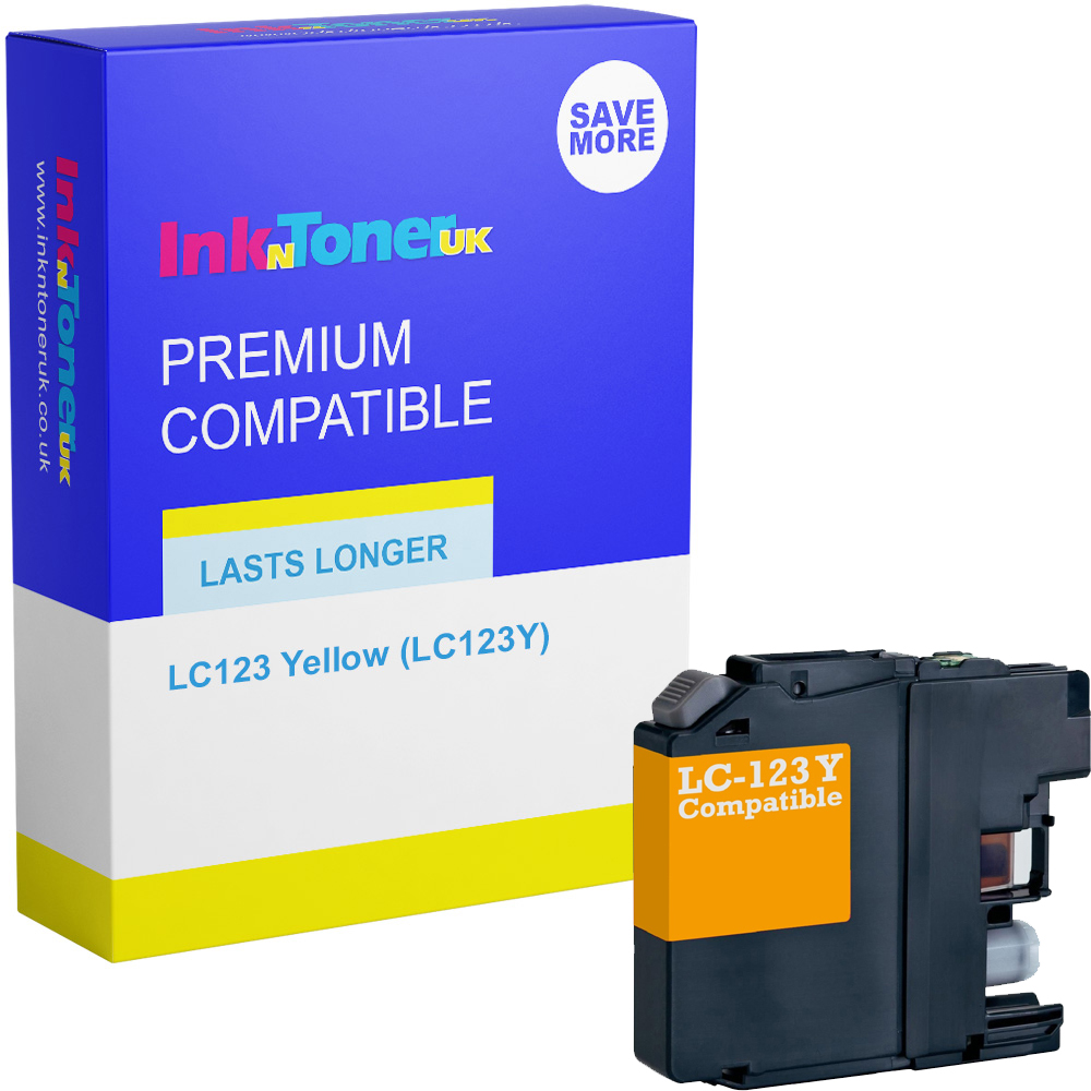 Premium Compatible Brother LC123 Yellow Ink Cartridge (LC123Y)