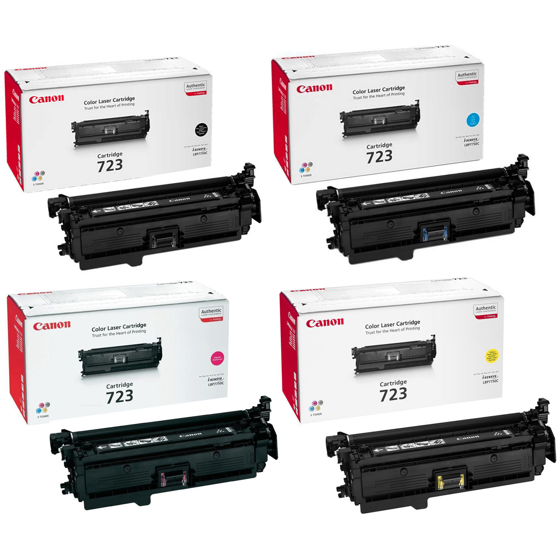Original Canon 723H / 723 CMYK Multipack Toner Cartridges (2645B002/ 2643B002/ 2642B002/ 2641B002)
