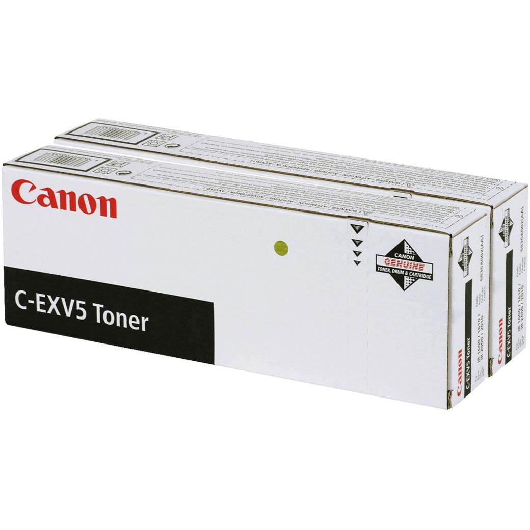 Original Canon C-EXV5 Black Twin Pack Toner Cartridges (6836A002AA)