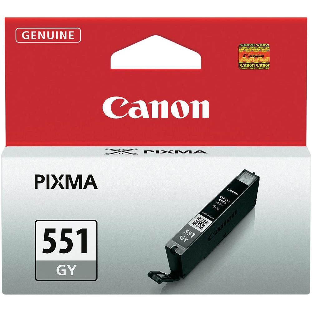 Original Canon CLI-551GY Grey Ink Cartridge (6512B001)