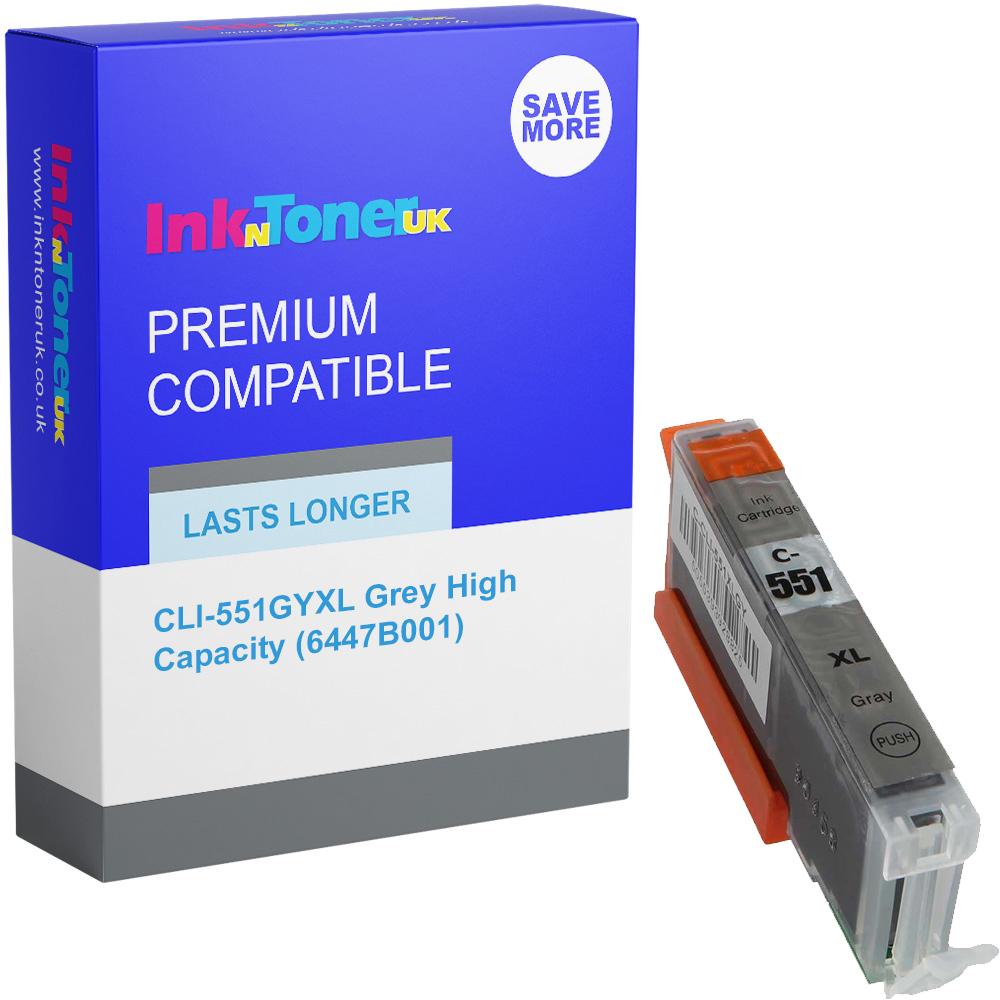 Premium Compatible Canon CLI-551GYXL Grey High Capacity Ink Cartridge (6447B001)
