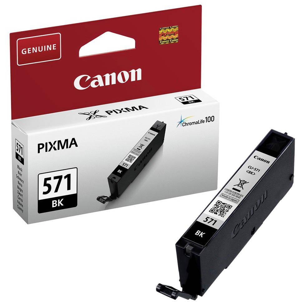 Original Canon CLI-571BK Black Ink Cartridge (0385C001)