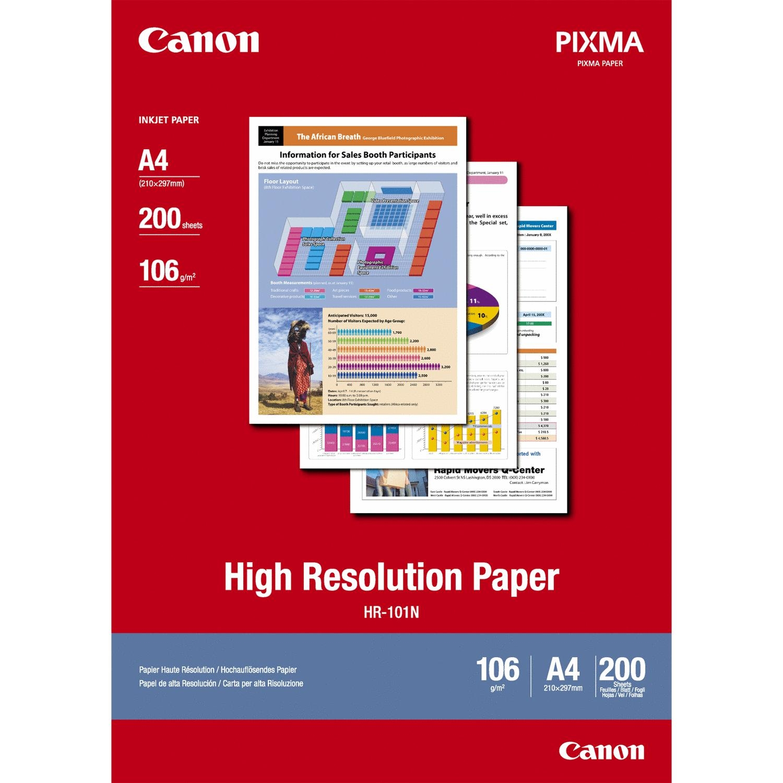Original Canon HR-101N 106gsm A4 High Resolution Paper - 200 sheets (1033A001)