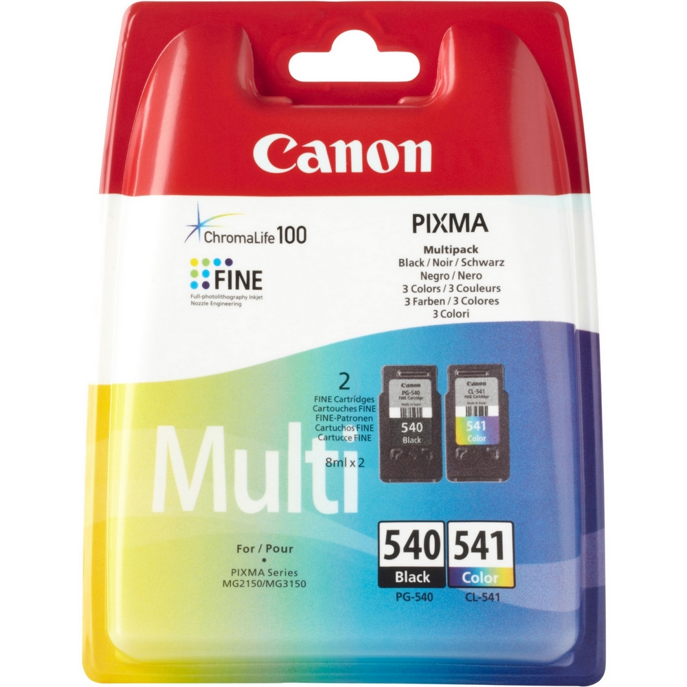 Original Canon PG-540 / CL-541 Black & Colour Combo Pack Ink Cartridges