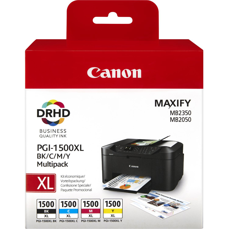 Original Canon PGI-1500XL CMYK Multipack High Capacity Ink Cartridges (9182B004)