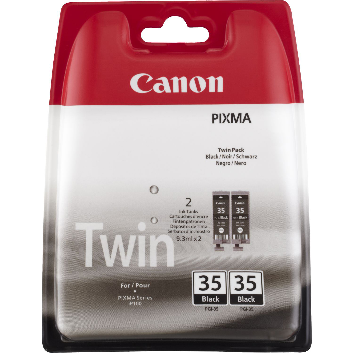 Original Canon PGI-35BK Black Twin Pack Ink Cartridges (1509B012)