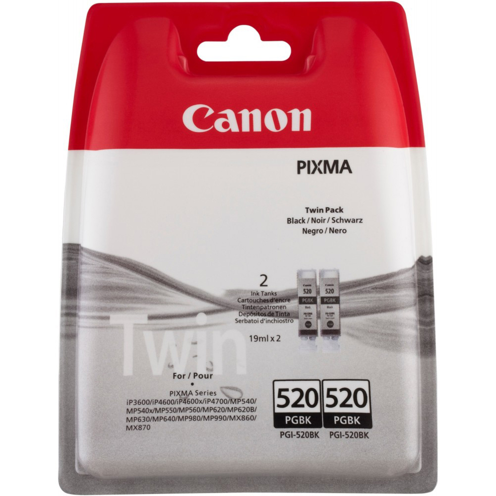 Premium Compatible Canon Pgi 520bk Black Twin Pack Ink Cartridges Cartridge 29 Red Original 2932b009