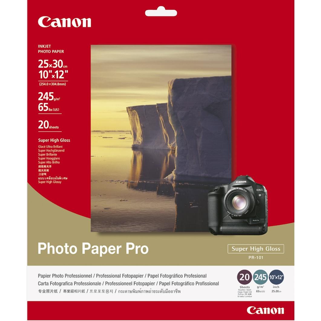 Original Canon PR-101 245gsm 10 x 12in Photo Paper Pro - 20 Sheets (1029A061)