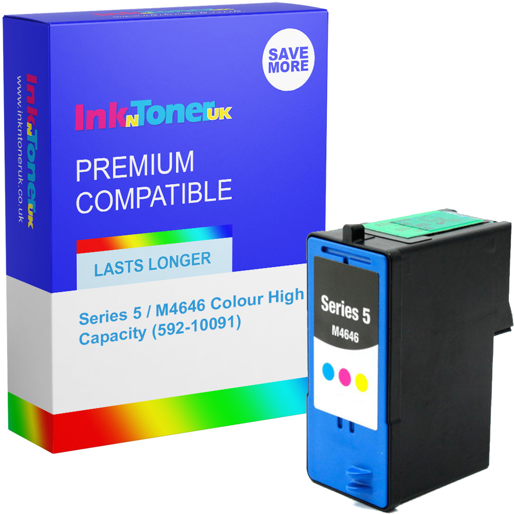 Premium Remanufactured Dell Series 5 / M4646 Colour High Capacity Ink Cartridge (592-10091)