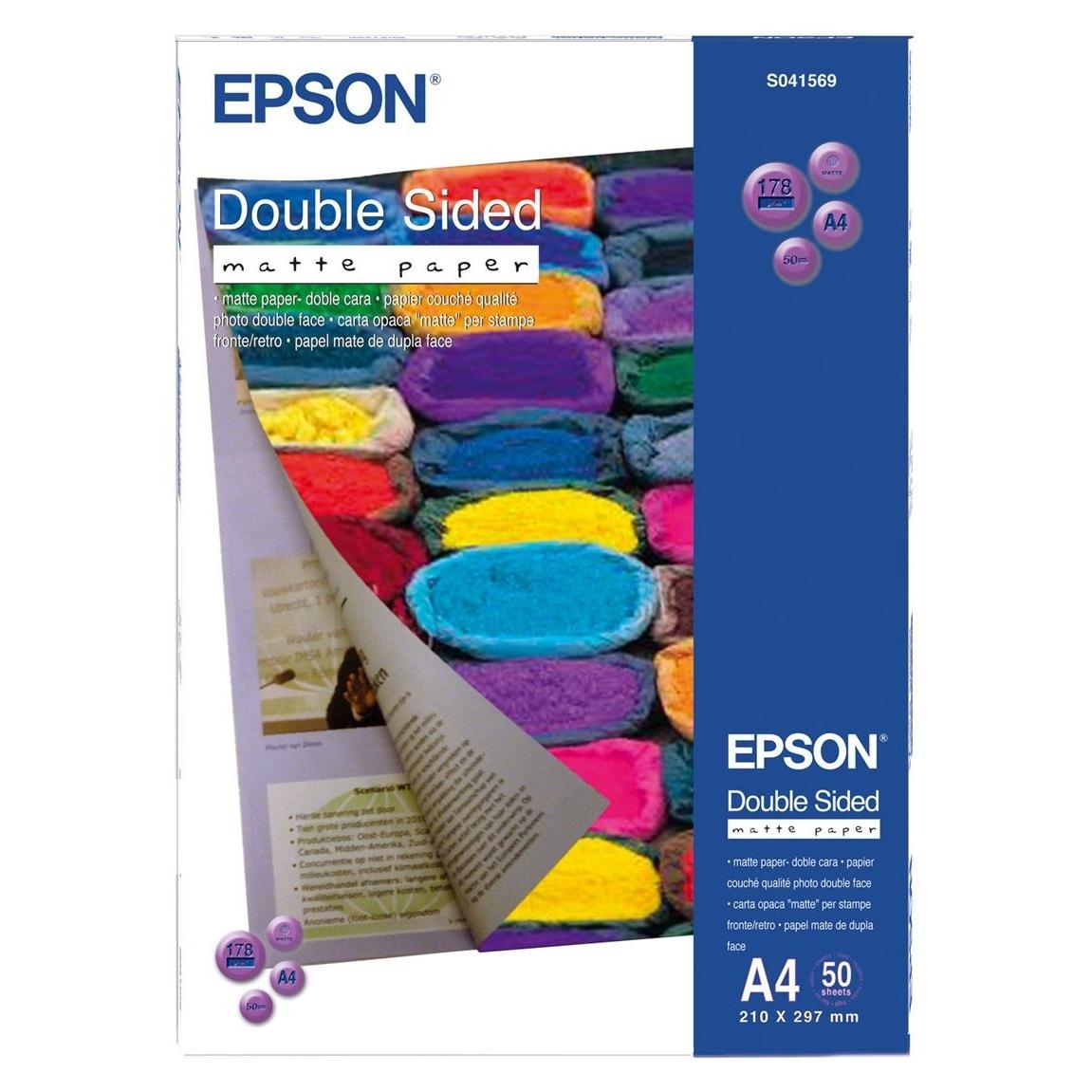 Original Epson S041569 178gsm A4 Photo Paper - 50 Sheets (C13S041569)