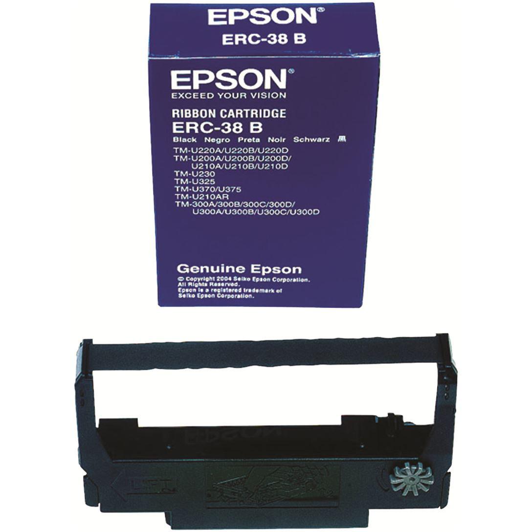 Original Epson ERC-38B Black Fabric Ribbon (C43S015374)