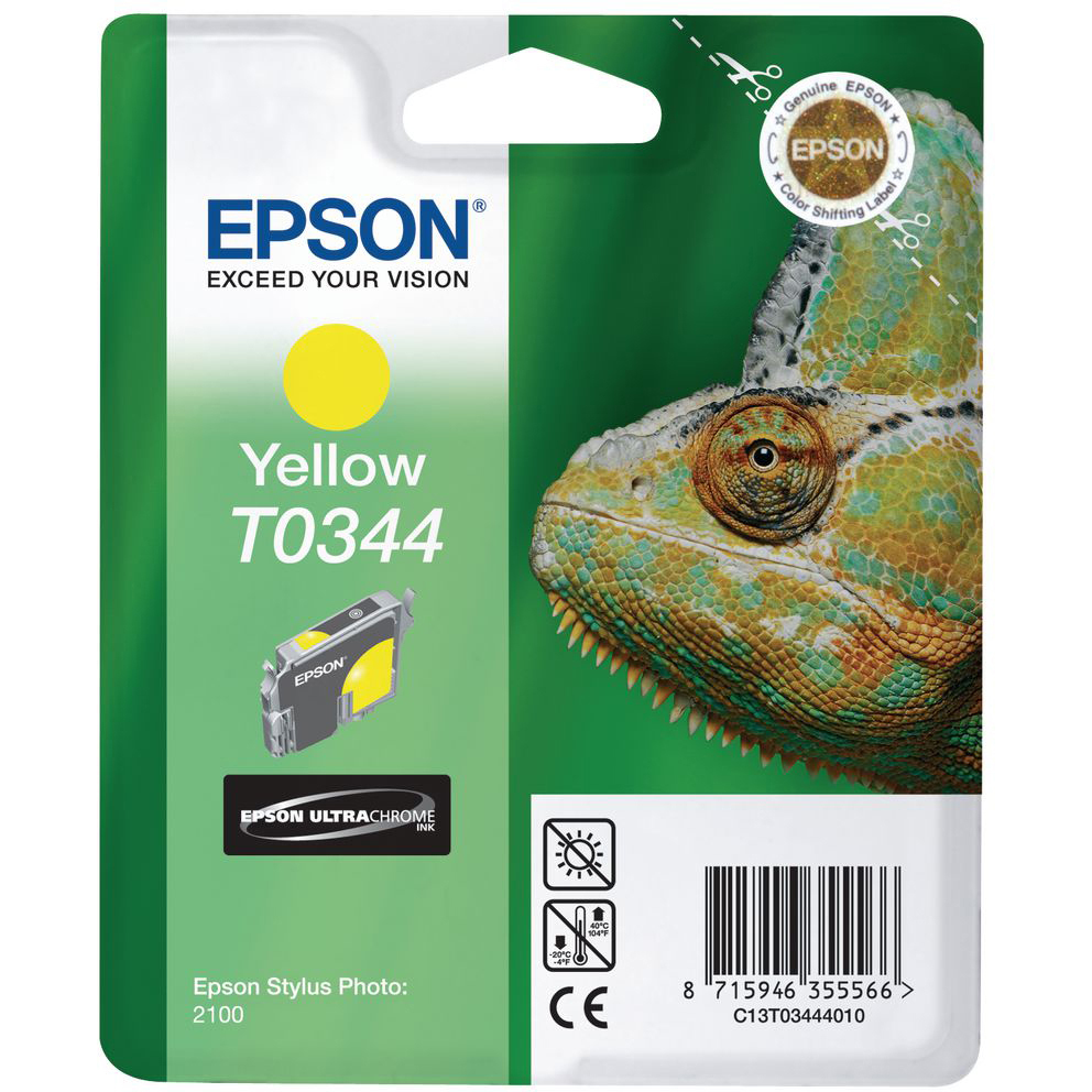 Original Epson T0344 Yellow Ink Cartridge (C13T03444010)