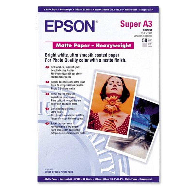 Original Epson S041264 167gsm A3+ Photo Paper - 50 Sheets (C13S041264)