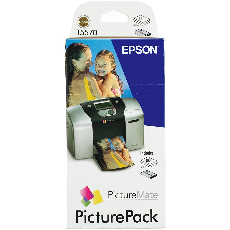 Original Epson T557 Colour Ink Cartridge & Photo Paper Pack (C13T557040BH)