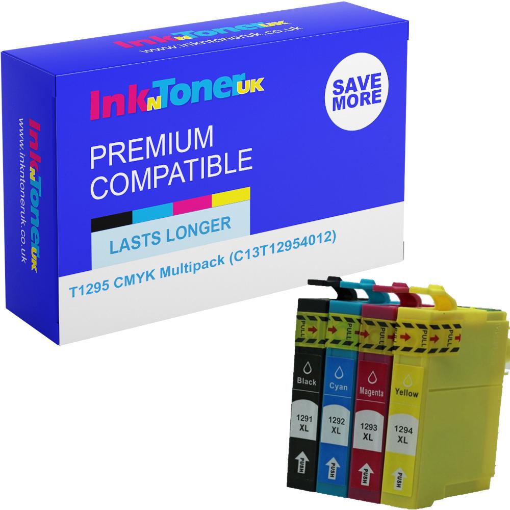 Premium Compatible Epson T1295 CMYK Multipack Ink Cartridges (C13T12954012) Apple