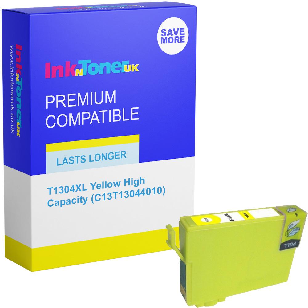 Premium Compatible Epson T1304XL Yellow High Capacity Ink Cartridge (C13T13044010)