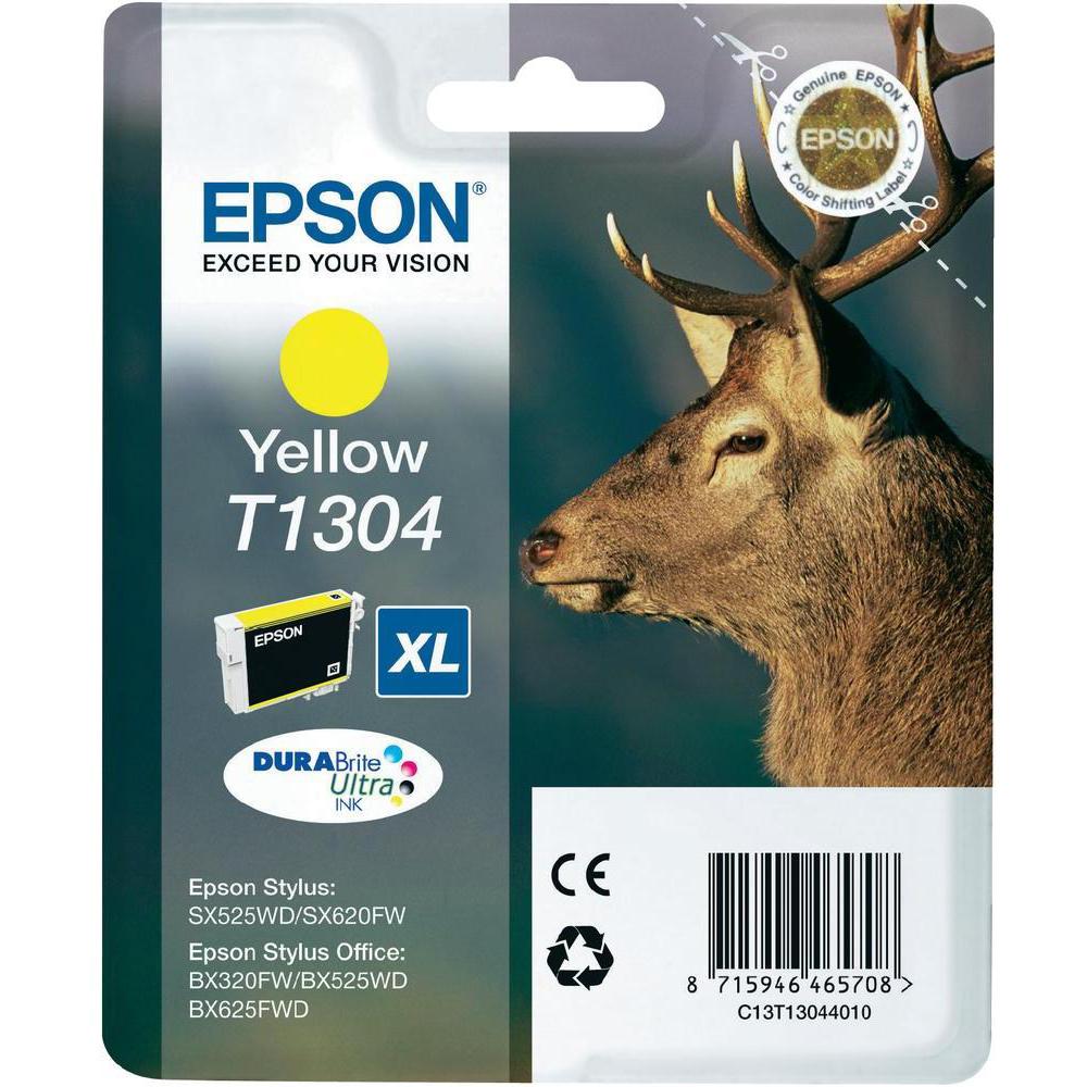 Original Epson T1304XL Yellow High Capacity Ink Cartridge (C13T13044010)