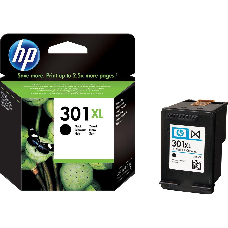 Original HP 301XL Black High Capacity Ink Cartridge (CH563EE)