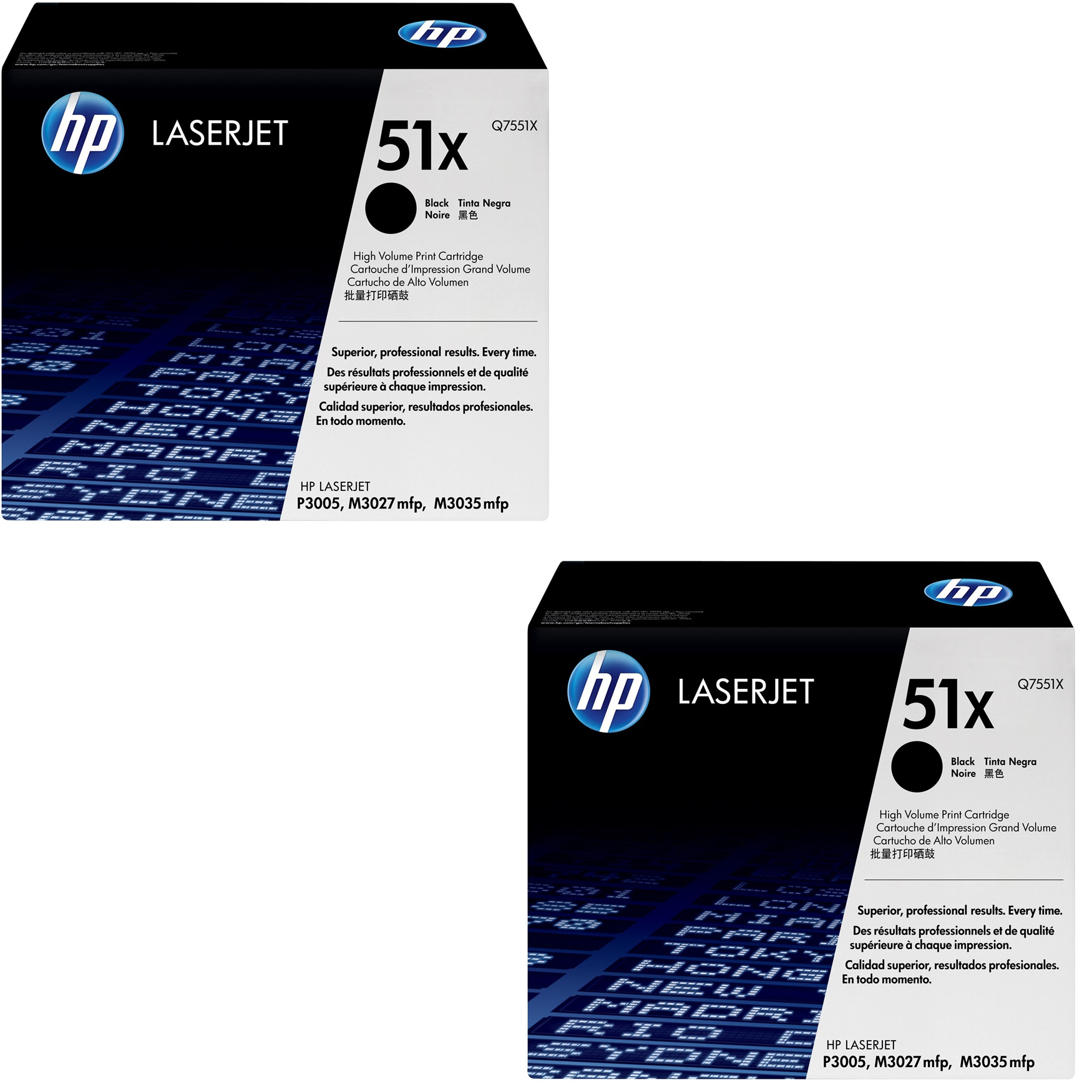 Original HP 51X Black Twin Pack High Capacity Toner Cartridges (Q7551X)