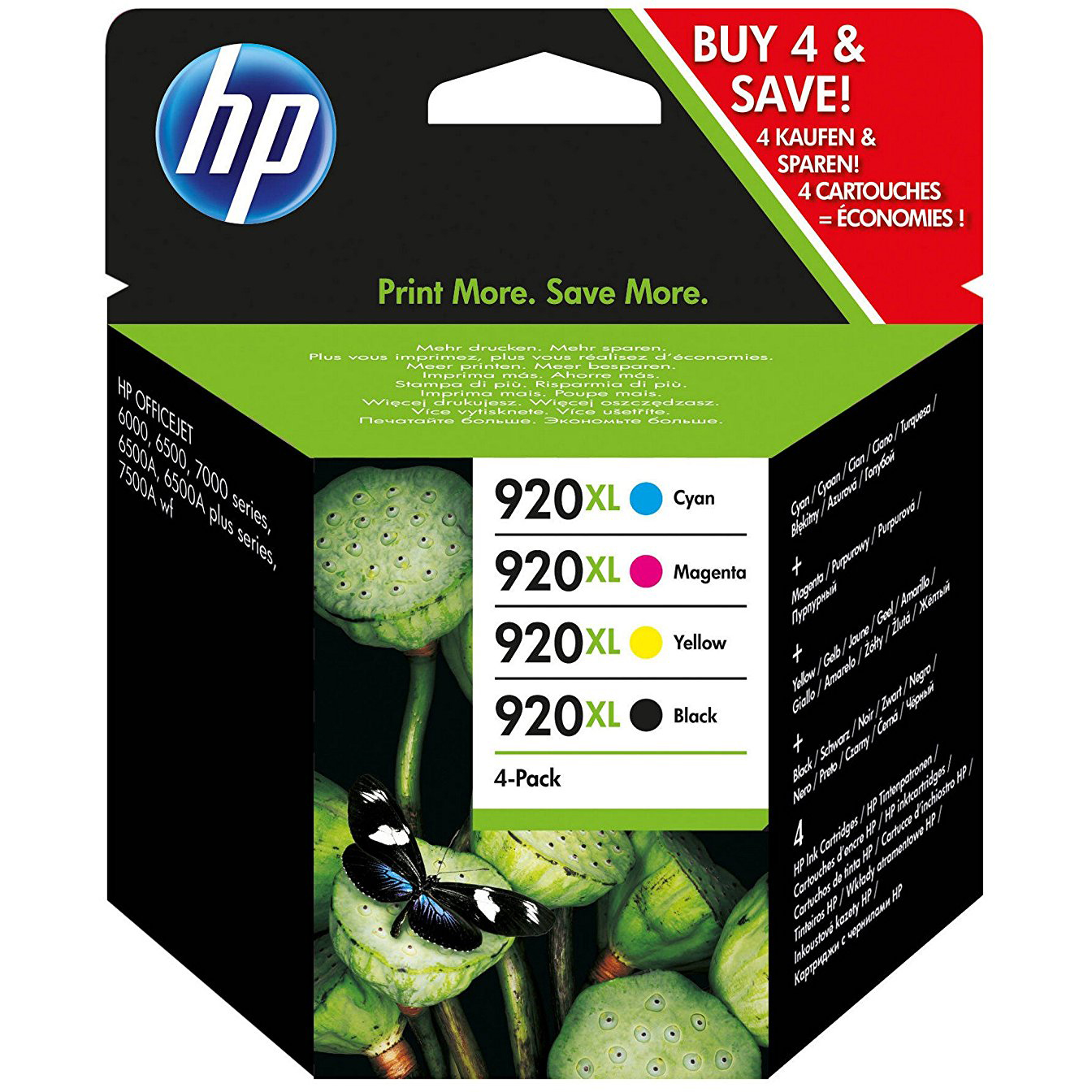 Original HP 920XL CMYK Multipack Ink Cartridges