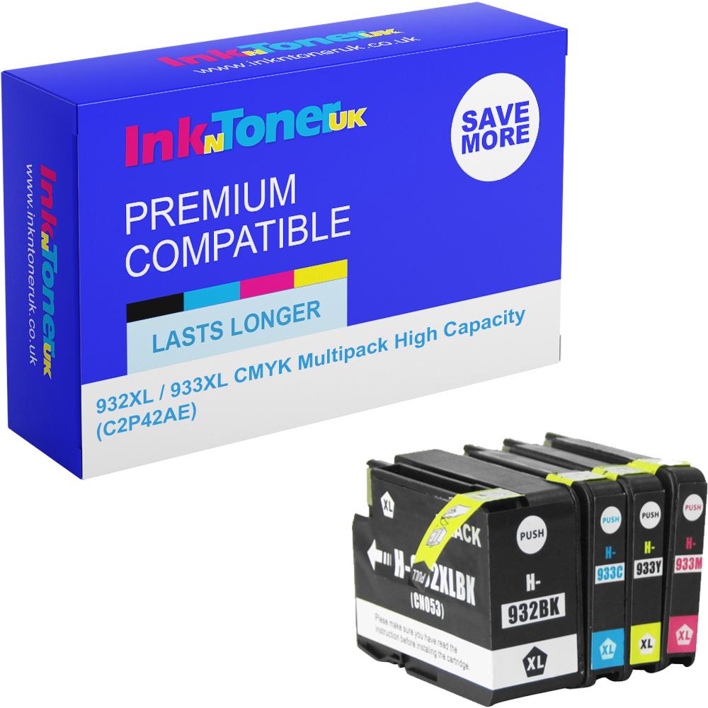 Premium Compatible HP 932XL / 933XL CMYK Multipack High Capacity Ink Cartridges (C2P42AE)