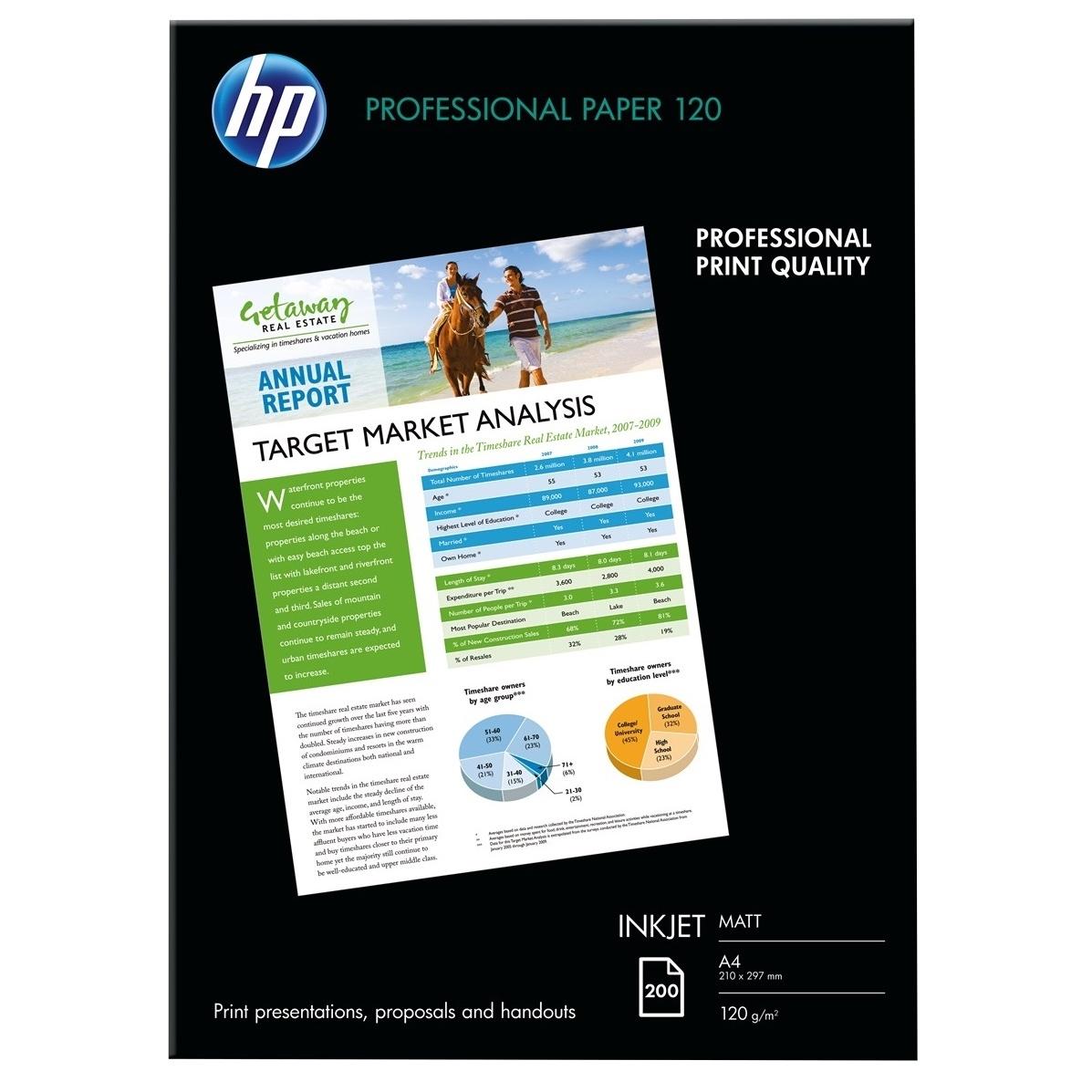 Original HP Q6593A 120gsm A4 Photo Paper - 200 Sheets (Q6593A)