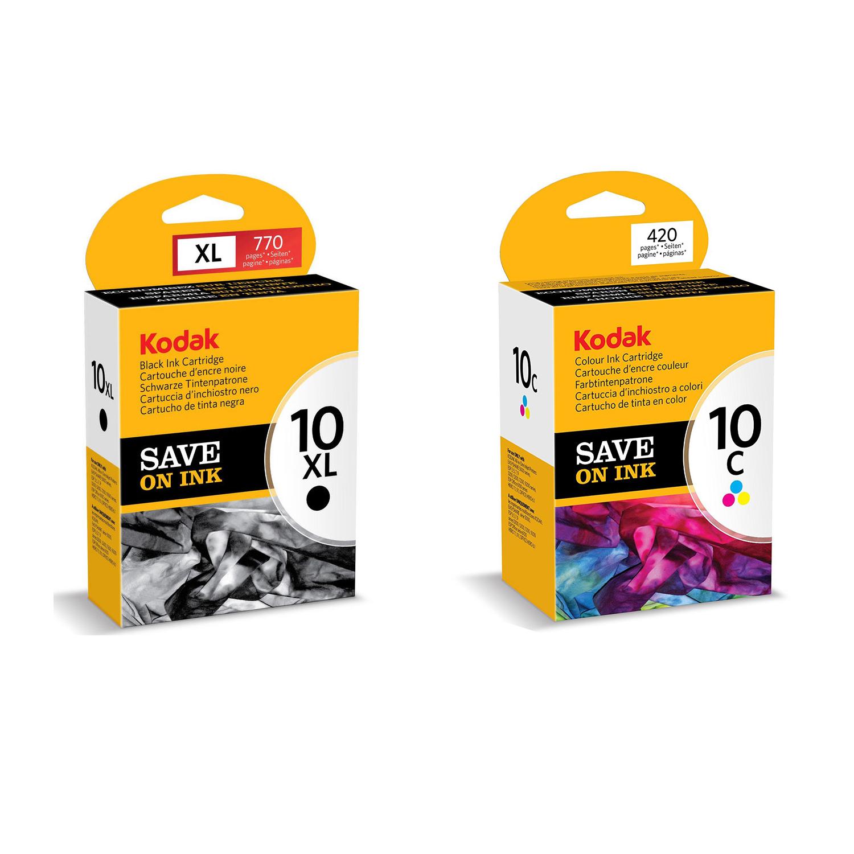 Original Kodak 10XL / 10 Black & Colour Combo Pack Ink Cartridges (3949922 & 3947066)