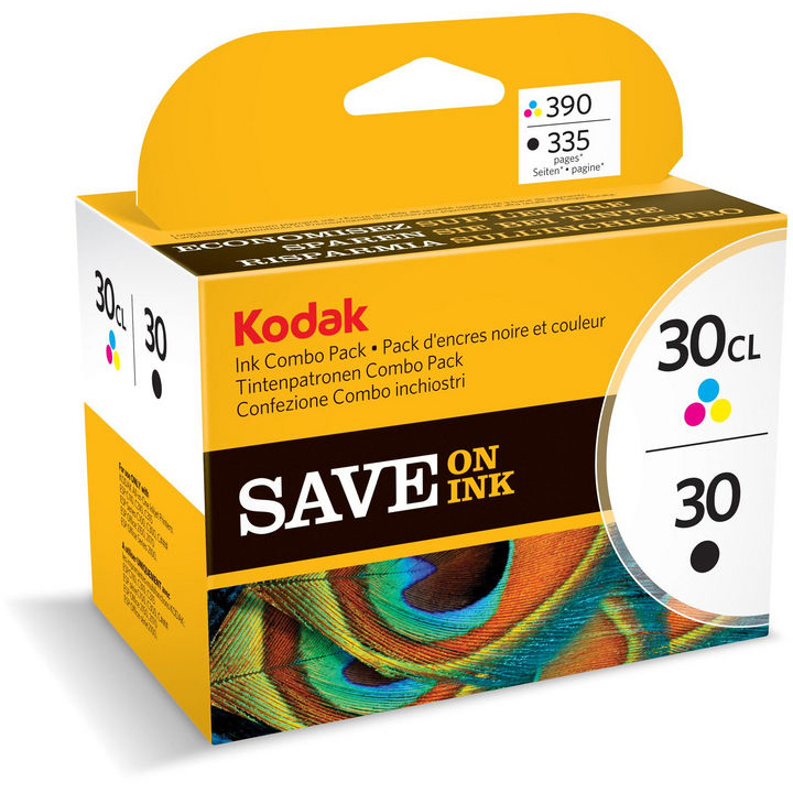 Original Kodak 30 Black & Colour Combo Pack Ink Cartridges (8039745)