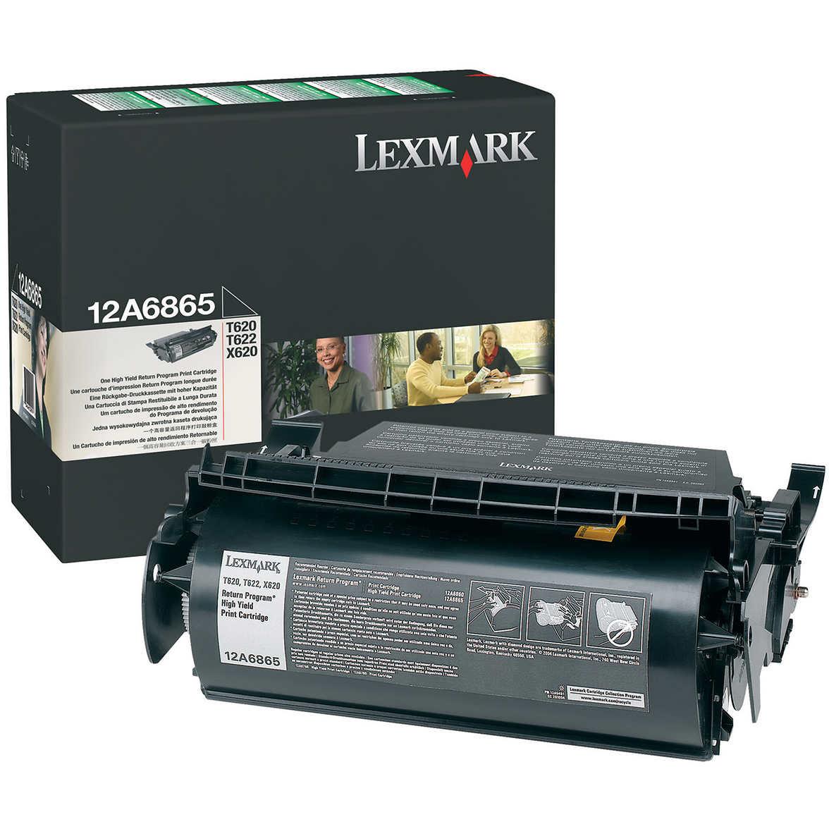 original lexmark 12a6865 black high capacity toner cartridge 12a6865 ink n toner uk. Black Bedroom Furniture Sets. Home Design Ideas