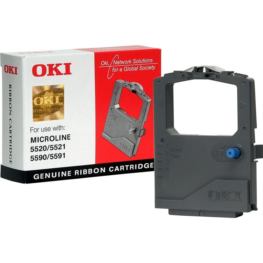 Original Oki 01126301 Black Nylon Ink Ribbon (01126301)