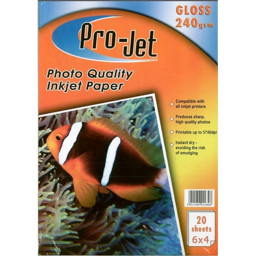 Original Pro-Jet Glossy A6 240gsm Photo Paper