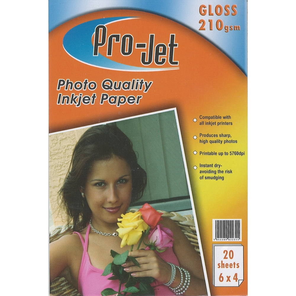 Original Pro-Jet Glossy A6 210gsm Photo Paper