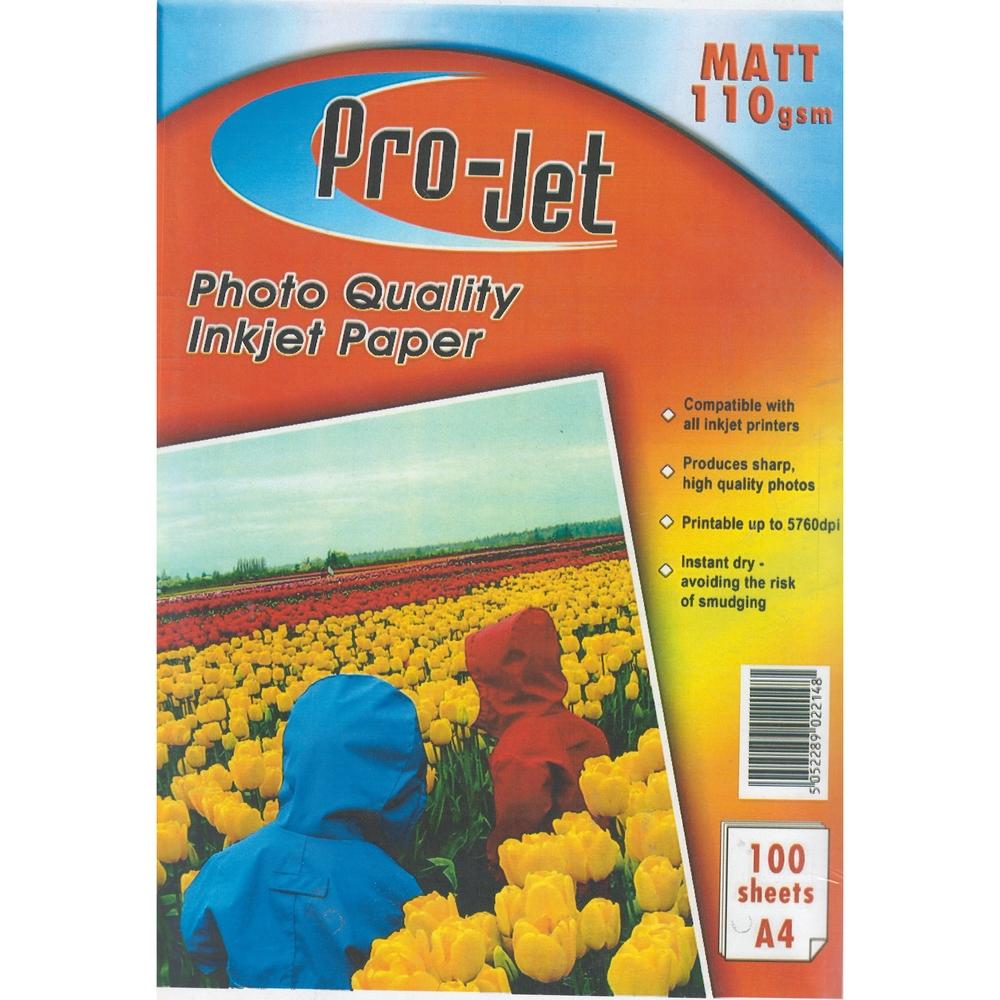 Original Pro-Jet Matte A4 110gsm Photo Paper - 100 sheets