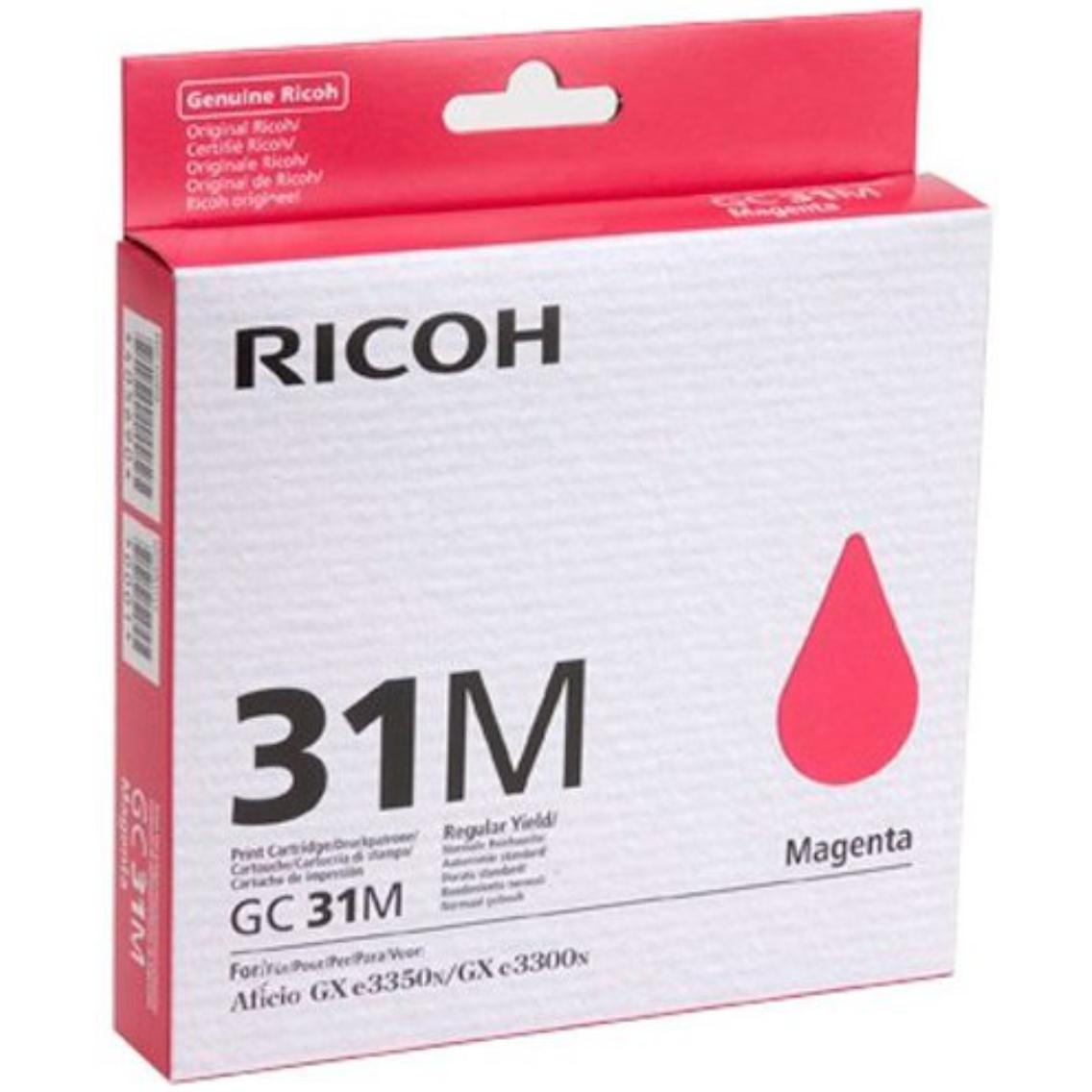 Original Ricoh GC31MH Magenta High Capacity Gel Ink Cartridge (405703)