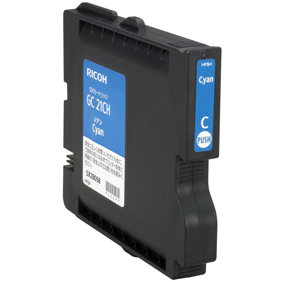 Original Ricoh GC21CH Cyan High Capacity Gel Ink Cartridge (405537)