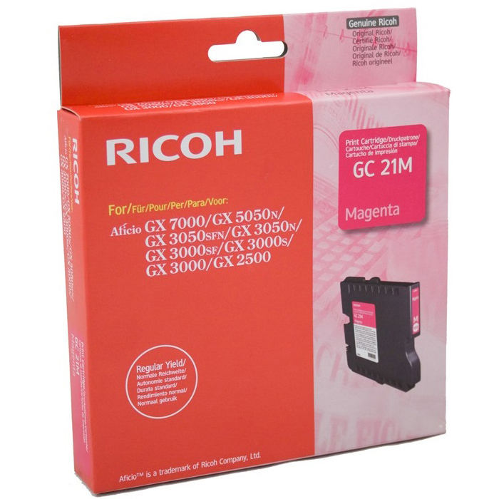 Original Ricoh GC21M Magenta Gel Ink Cartridge (405534/405542)