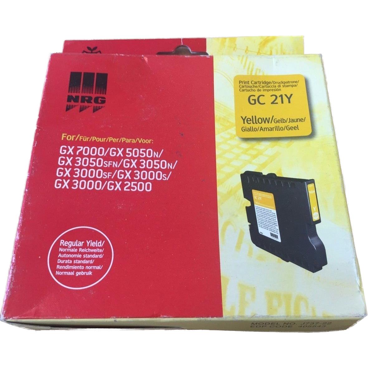 Original Ricoh GC21YH Yellow High Capacity Gel Ink Cartridge (405547)